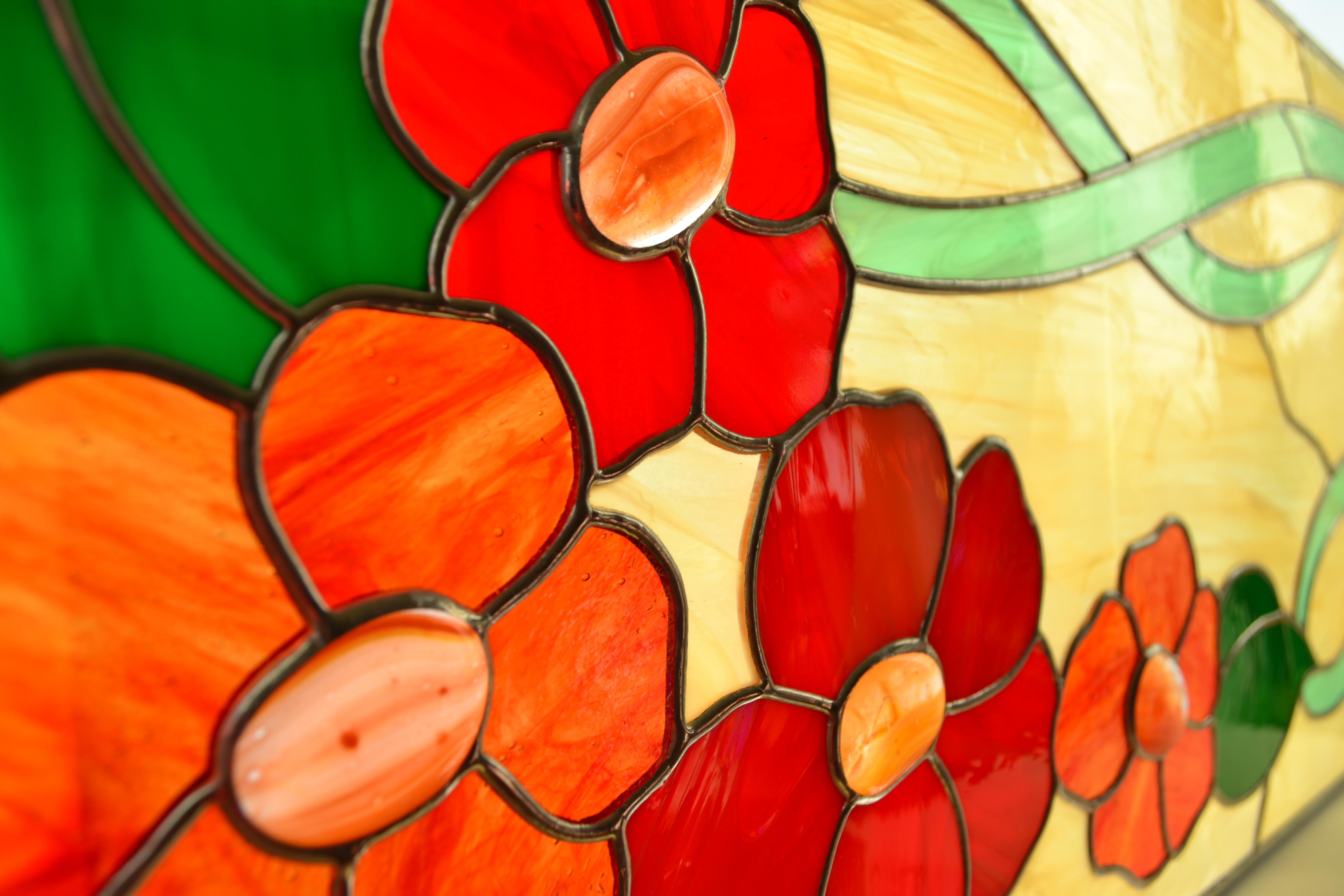 W Ultra Witraż kwiaty czerwone 650zł RP23